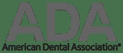 grey american dental association logo transparent background