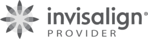 transparent grey invisalign logo