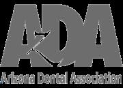 transparent grey arizona dental association logo
